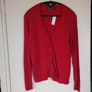 NY&Co NWT Red XXL 7th Avenue Cardigan Sweater